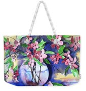 Apple Blossoms Weekender Tote Bag by Sherry Harradence