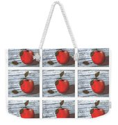 Apple Collage Weekender Tote Bag