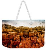 Apple Crates And Crows Weekender Tote Bag by Bob Orsillo