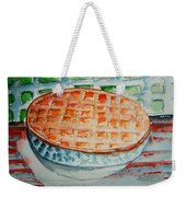 Apple Pie With Lattice Crust Weekender Tote Bag