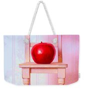 Apple Still Life With Doll Chair Weekender Tote Bag by Edward Fielding
