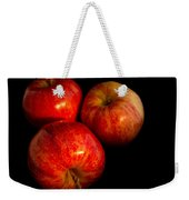 Apple Trio Weekender Tote Bag