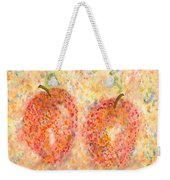 Apple Twins Weekender Tote Bag