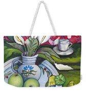 Apples And Lilies Weekender Tote Bag