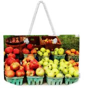 Apples At Farmer's Market Weekender Tote Bag