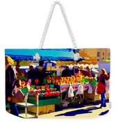 Apples Cortlands Lobos Honey Crisps Mcintosh Atwater Market Apple Fruit Stall Foodart Carole Spandau Weekender Tote Bag