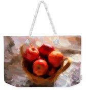 Apples On The Table Weekender Tote Bag