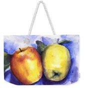 Apples Paired Weekender Tote Bag