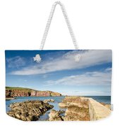 Approach To St Abbs Harbour Weekender Tote Bag
