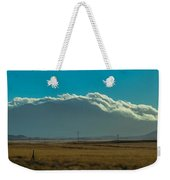 Grassland Approaching Humphreys Peak Weekender Tote Bag