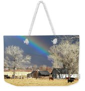 Approaching Storm At Cattle Ranch Weekender Tote Bag