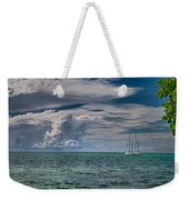 Approaching Storm At Whale Harbor Weekender Tote Bag