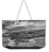 Approaching Storm Black And White Weekender Tote Bag by Douglas Barnard
