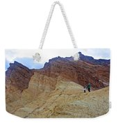 Approaching The Jagged Peaks In Golden Canyon In Death Valley National Park-california  Weekender Tote Bag