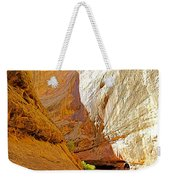 Approaching The Shadow In Grand Wash In Capitol Reef National Park-utah Weekender Tote Bag