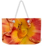 Apricot Daylily Close-up Weekender Tote Bag