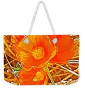 Apricot Globemallow In Vermilion Cliffs National Monument-arizona Weekender Tote Bag
