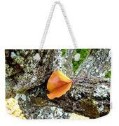 Apricot Leaf And Lichen Weekender Tote Bag