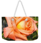 Apricot Nectar Rose Weekender Tote Bag