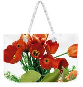 Apricots And Red Roses Weekender Tote Bag