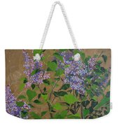 April Lilacs Weekender Tote Bag