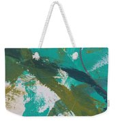 Aqua And Green Weekender Tote Bag