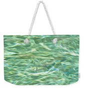 Aqua Green Water Art 2 Weekender Tote Bag