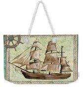 Aqua Maritime 1 Weekender Tote Bag by Debbie DeWitt