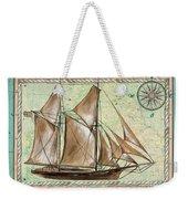 Aqua Maritime 2 Weekender Tote Bag by Debbie DeWitt