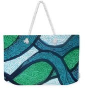 Aqua Motion Weekender Tote Bag