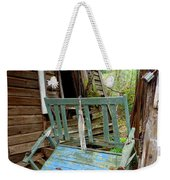 Aqua Porch Swing Weekender Tote Bag