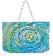 Aqua Seashell Weekender Tote Bag