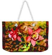 Aqualigia Floral 11x14 Weekender Tote Bag