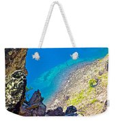 Aquamarine Shoreline At North Junction Of Crater Lake In Crater Lake National Park-oregon Weekender Tote Bag