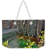 Aquamarine Water In Trinity Bay Near Skerwink Trail-nl Weekender Tote Bag