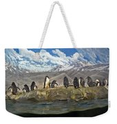 Aquarium Penguins Line Dance Weekender Tote Bag