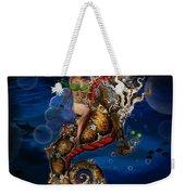 Aquatic Goddess On Unicorn Seahorse Weekender Tote Bag