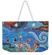 Aquatic Mosaic Tile Art Weekender Tote Bag