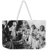 Arab Men At Leisure Weekender Tote Bag