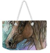 Arabian Horse And Burst Of Colors Weekender Tote Bag