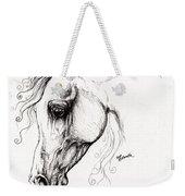 Arabian Horse Drawing 15 Weekender Tote Bag by Angel  Tarantella