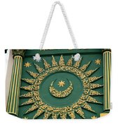 Arabic Calligraphy And Prayer On Gaffoor Mosque Singapore Weekender Tote Bag