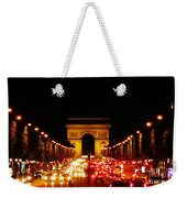 Arc De Triomphe At Night Weekender Tote Bag