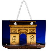 Arc De Triomphe At Night Paris France Weekender Tote Bag