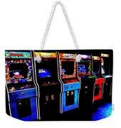 Arcade Forever Nintendo Weekender Tote Bag by Benjamin Yeager