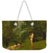 Arcadia Circa 1883 Weekender Tote Bag by Thomas Cowperthwait Eakins
