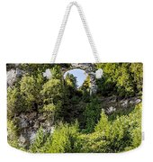 Arch Rock Mackinac Island Michigan Weekender Tote Bag