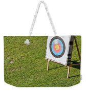 Archery Round Target On A Stand Weekender Tote Bag
