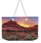 Arches Fire In The Sky Weekender Tote Bag