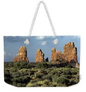Arches National Park Sunrise Rock Formations  Weekender Tote Bag
